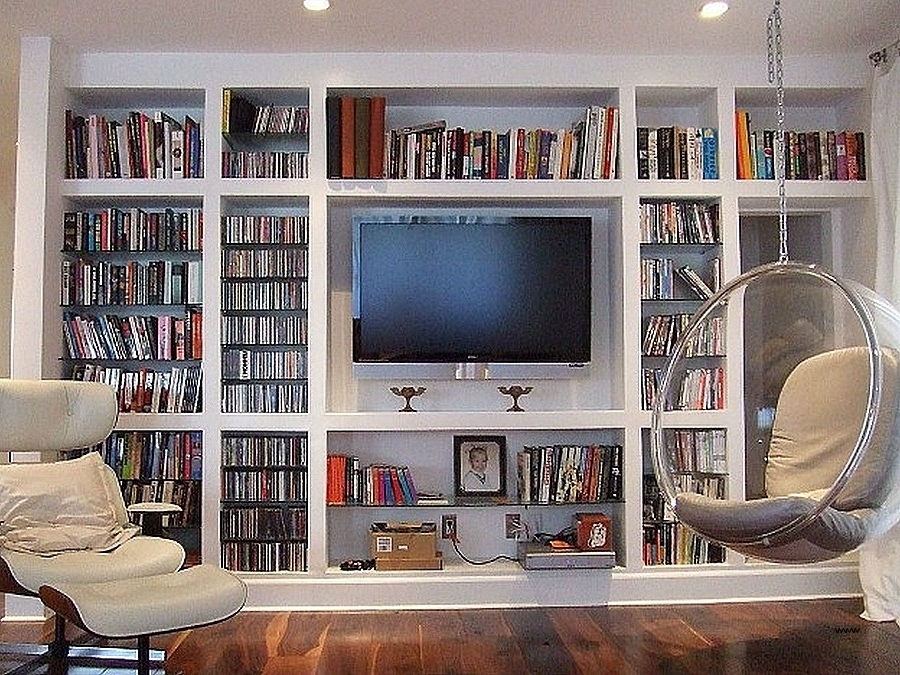 Favorite Built In Bookshelves With Tv Within Wall Units: Wall Unit Book Shelves Elegant Furniture Wall Mount (View 10 of 15)