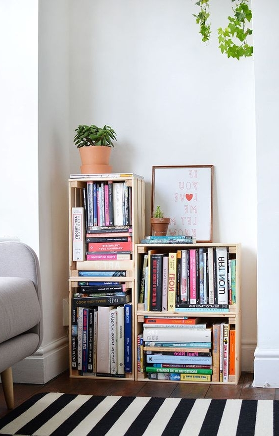 Favorite Cheap Bookshelves In 17 Diy Unique Cheap Bookshelves For Your Study – Homesthetics (View 10 of 15)