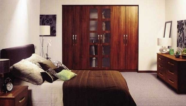 Favorite Dark Wood Wardrobes Elegant Fitted Wardrobes – Bedroom Armoire For Dark Wood Wardrobes (View 9 of 15)