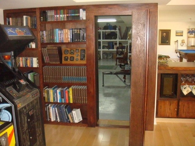 Favorite Invisidoor Hidden Door Bookcase – Home Gym – Milwaukee Custom With Regard To Door Bookcases (View 1 of 15)