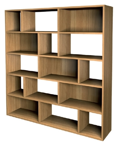 Favorite Jitona Marco Modern Asymmetric Shelf – Large – Oak – Mqd3011 Intended For Contemporary Oak Bookcases (View 11 of 15)