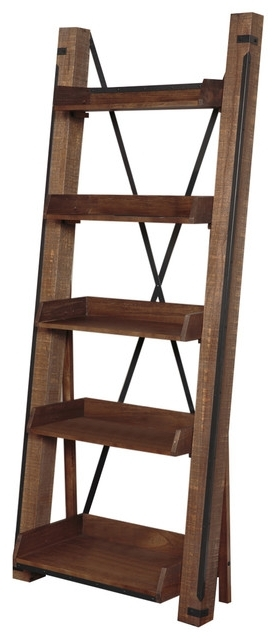 Favorite Open Bookcases Inside American Furniture Classics – Industrial Open Shelf Ladder (View 4 of 15)