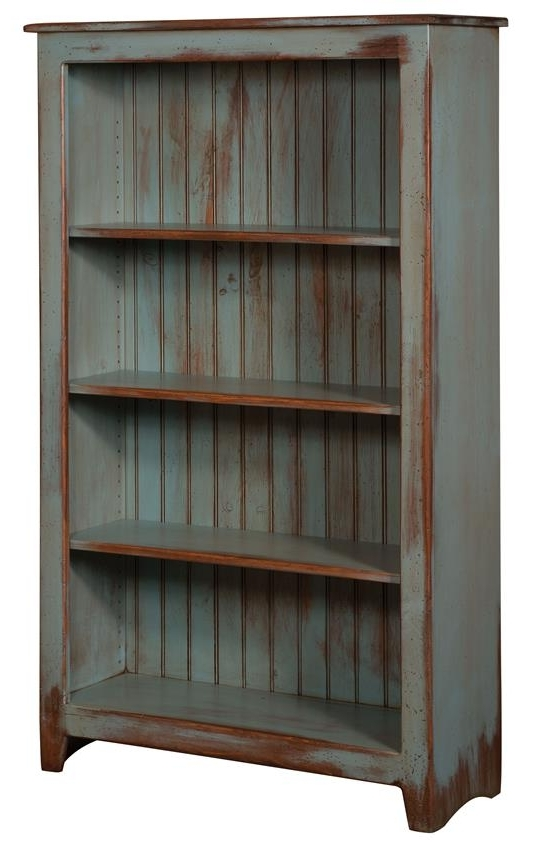 Favorite Primitive Pine Wood Bookcase From Dutchcrafters Amish Furniture Inside Distressed Wood Bookcases (View 3 of 15)