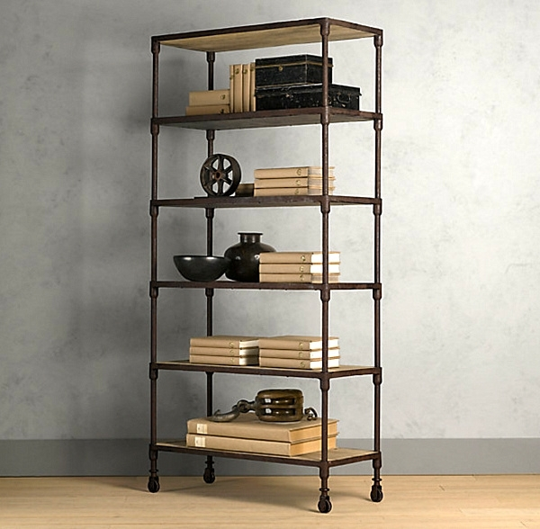 Favorite Similar Look With A Darker Finish, Try The Industrial Chic With Regard To Industrial Bookcases (View 4 of 15)