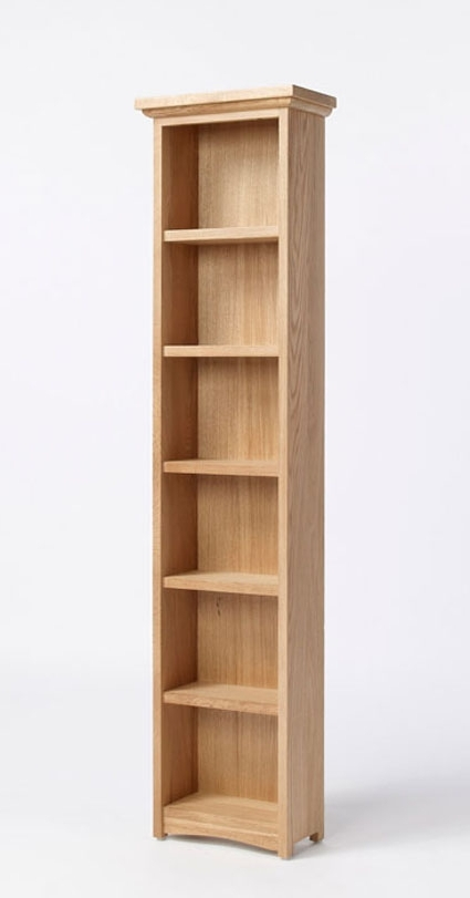 Favorite Tall Narrow Bookcases Pertaining To Turn Over A New Leaf With Our Statuesque Solid Oak Bookcase (View 8 of 15)