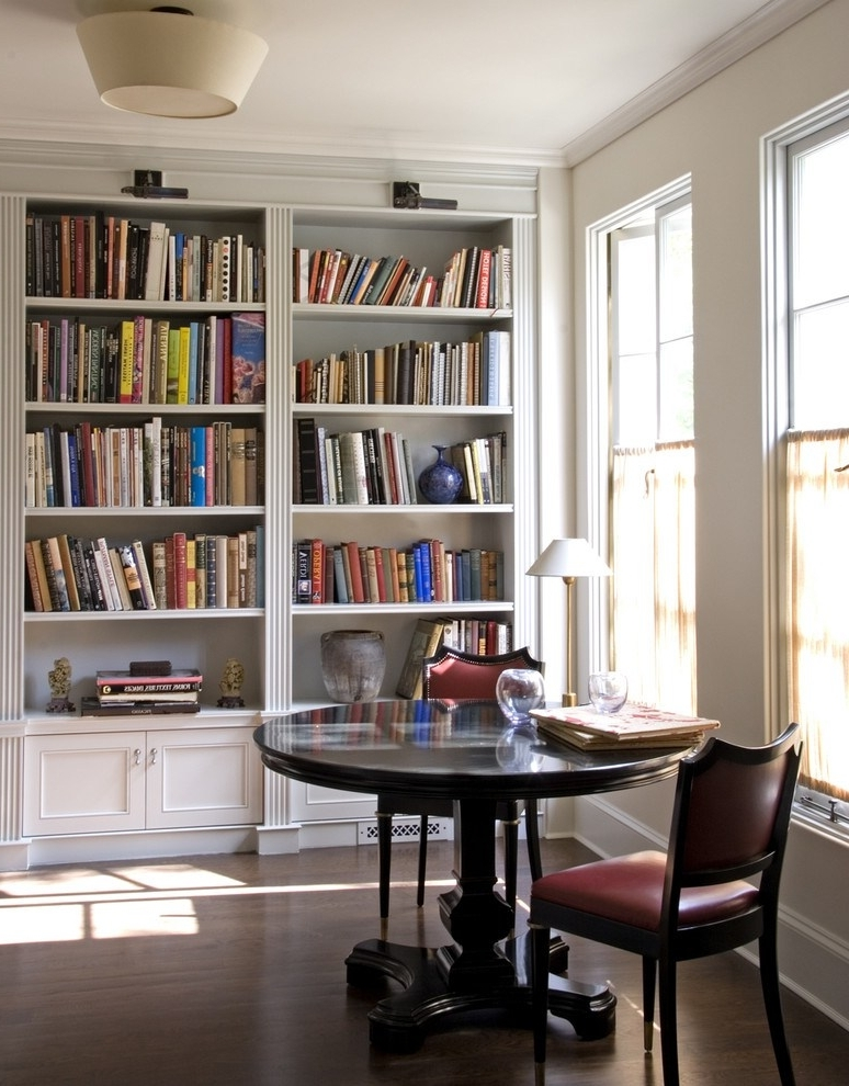 Favorite Traditional Bookshelves Designs Inside Bright Unique Bookshelves Method Dc Metro Traditional Home Office (View 6 of 15)