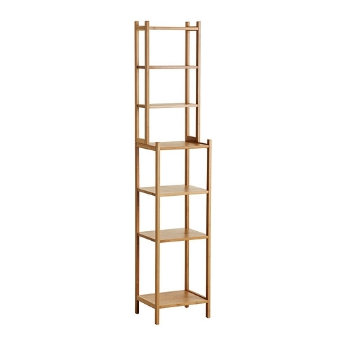 Favorite Very Narrow Shelving Unit Within Rågrund Shelving Unit Bamboo 33 Cm – Ikea (View 4 of 15)
