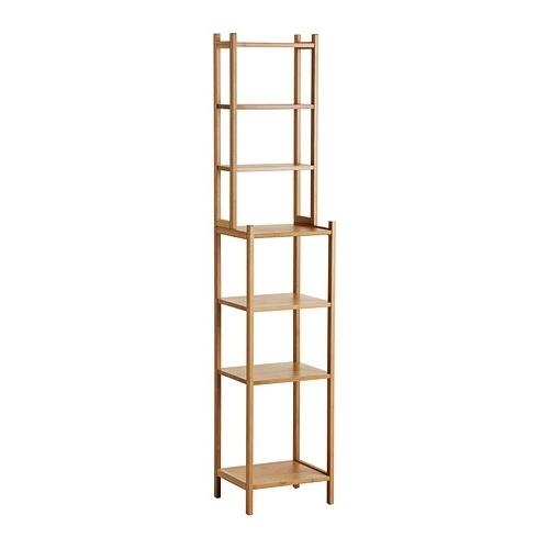 Favorite Very Narrow Shelving Unit Within Rågrund Shelving Unit Bamboo 33 Cm – Ikea (View 15 of 15)
