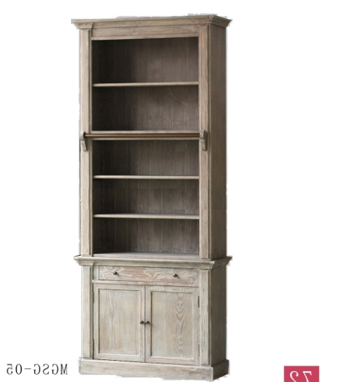 Favorite Vintage Bookcases Throughout French Solid Wood Bookcase Antique Style Vintage Wooden Bookcase (View 9 of 15)
