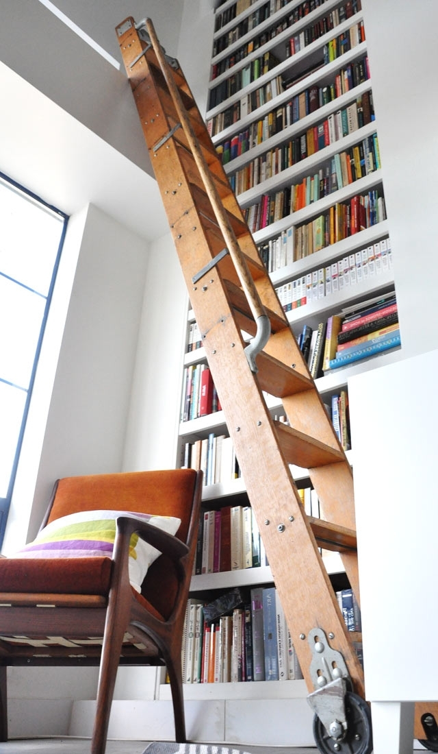 Favorite Vintage Library Ladder – Visualheart Creative Studio Throughout Wooden Library Ladders (View 12 of 15)