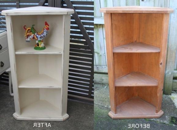 Favorite Voodoo Molly Vintage: Pine Corner Shelf Regarding Painted Shelving Units (View 1 of 15)