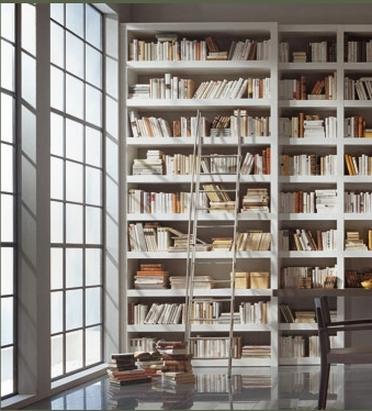 Favorite White Library Bookcases With Regard To Books And Books And Books In A Minimal Library / White – I Don't (View 6 of 15)