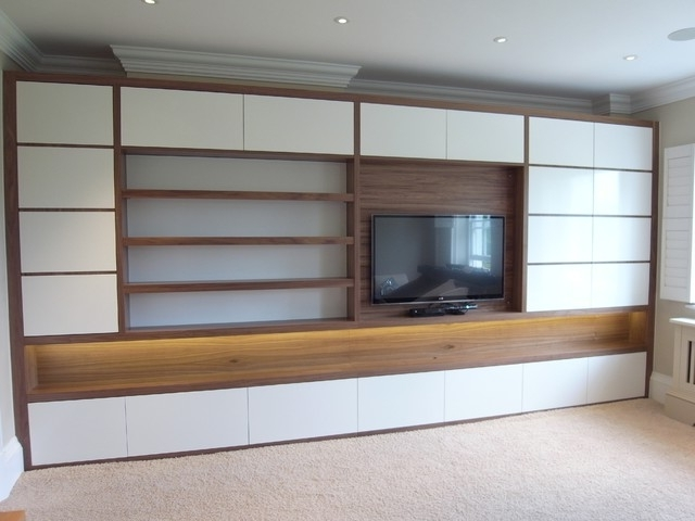 Fitted Cabinets Living Room Intended For Most Recent Northaw Contemporary Fitted Furniture – Contemporary – Living Room (View 7 of 15)