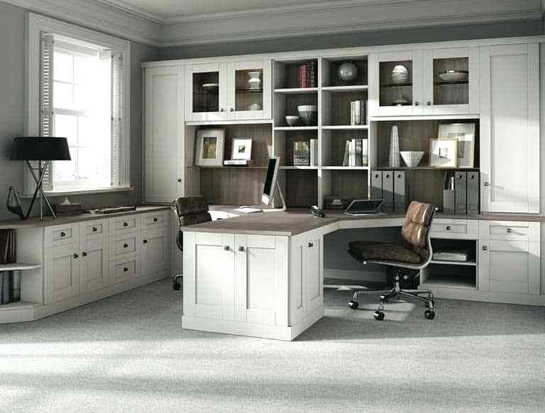 Fitted Home Office Furniture Sit Stand Desks Classic Pure White In Well Liked Fitted Office Furniture (View 9 of 15)