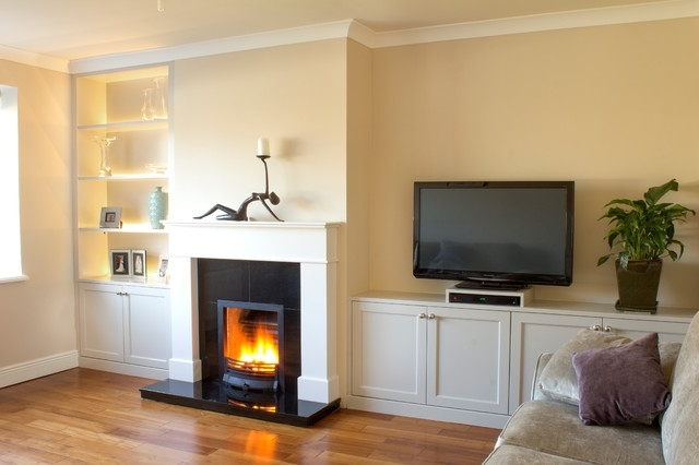 Fitted Living Room Cabinets In Most Recent Fitted Sitting Room Units With Built In Led Lights (View 6 of 15)