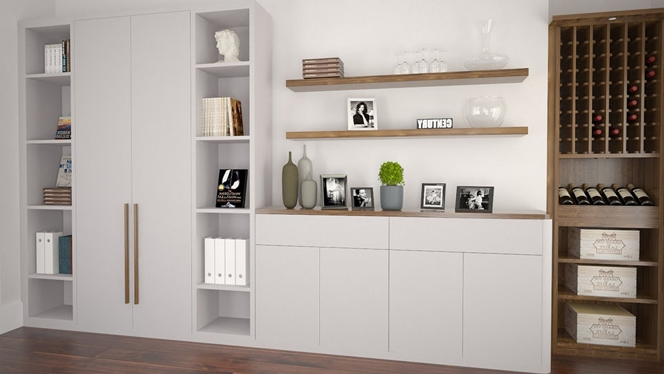 Fitted Living Room Cabinets Intended For Well Liked Bespoke Living Room Storage Solutions – Hyperion Furniture (View 8 of 15)