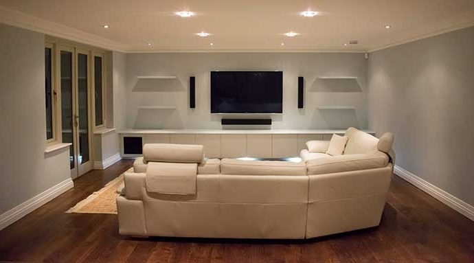 Fitted Living Room Cabinets Regarding Widely Used Bespoke Fitted Av Cabinets Living Room Home Cinema. Made In Uk (View 15 of 15)
