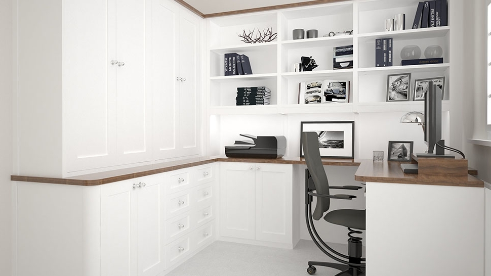 Fitted Office Furniture Inside Most Popular Beautiful Bespoke Built In Fitted Home Office Furniture Wakefield (View 8 of 15)