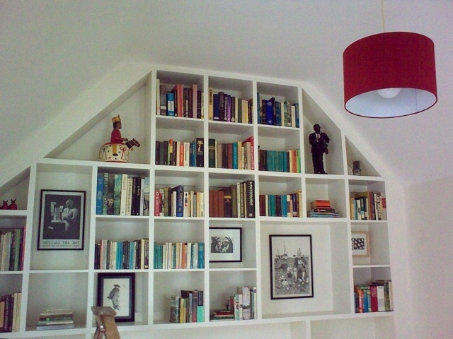 Fitted Shelves In Most Up To Date Wall Of Fitted Shelves – Richard Sothcott Brighton Carpentry (View 4 of 15)