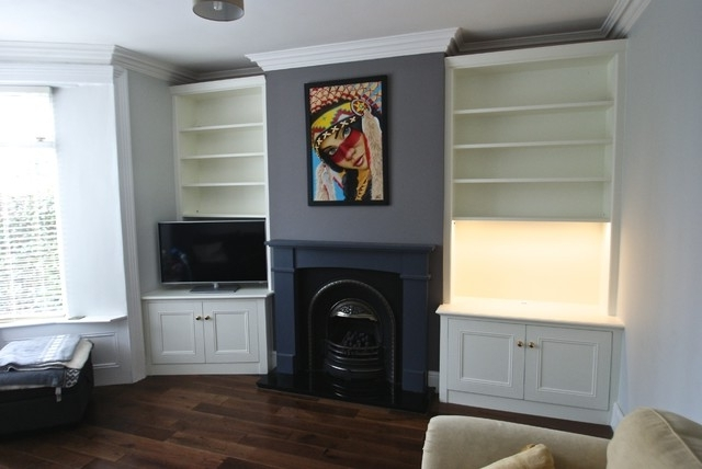 Fitted Wall Units Living Room With Regard To Preferred Sheffield Victorian Fitted Alcove Units In Off White Eclectic On (View 6 of 15)
