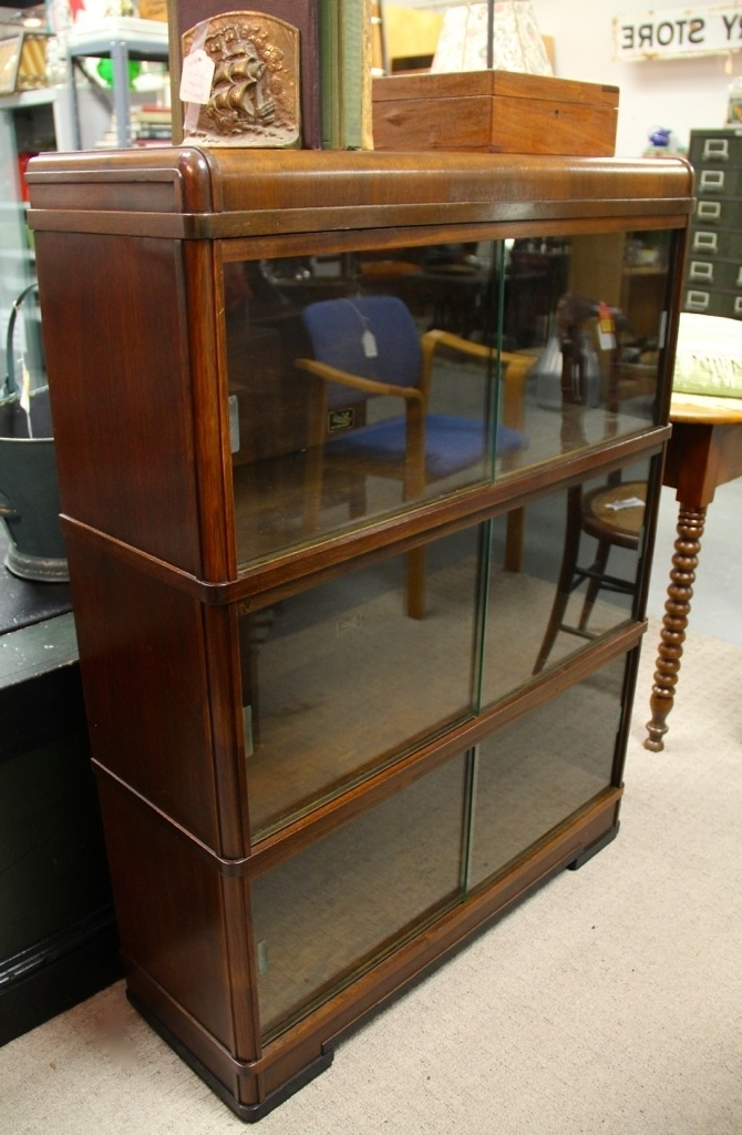 Found In Ithaca » Three Section Barrister Bookcase With Sliding Throughout Latest Bookcases With Sliding Glass Doors (View 9 of 15)