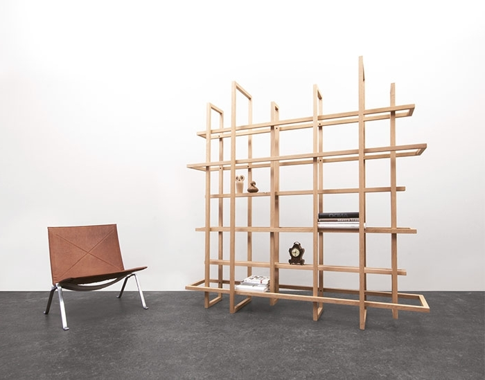 Free Standing Bookcases For Famous Gerard De Hoop's Grid Bookshelf Is Composed Of 12 Freestanding (View 5 of 15)