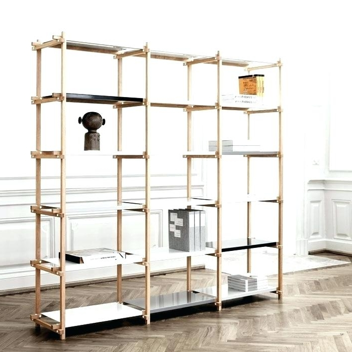 Free Standing Shelving Units Wood Within Best And Newest Free Standing Shelving Units Free Standing Wooden Shelving Units (View 6 of 15)