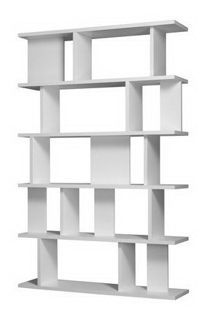 Free Standing White Shelves Intended For Current Attractive White Free Standing Book Shelf (View 4 of 15)