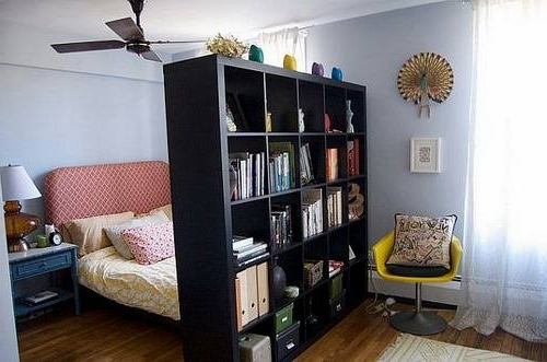 Freestanding Bookcases Wall In Widely Used Freestanding Bookshelf Wall Apartment Room Divider Ideas – Home (View 5 of 15)