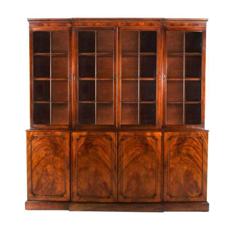 French Antique Mahogany Bookcase Circa 1920 At 1Stdibs Pertaining To Most Recent Shallow Bookcases (View 4 of 15)