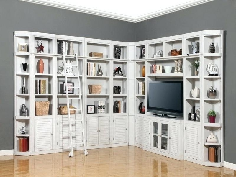 Full Wall Bookcase Wall Units White Bookcase Wall Unit Home In Inside Well Liked Home Library Wall Units (View 8 of 15)