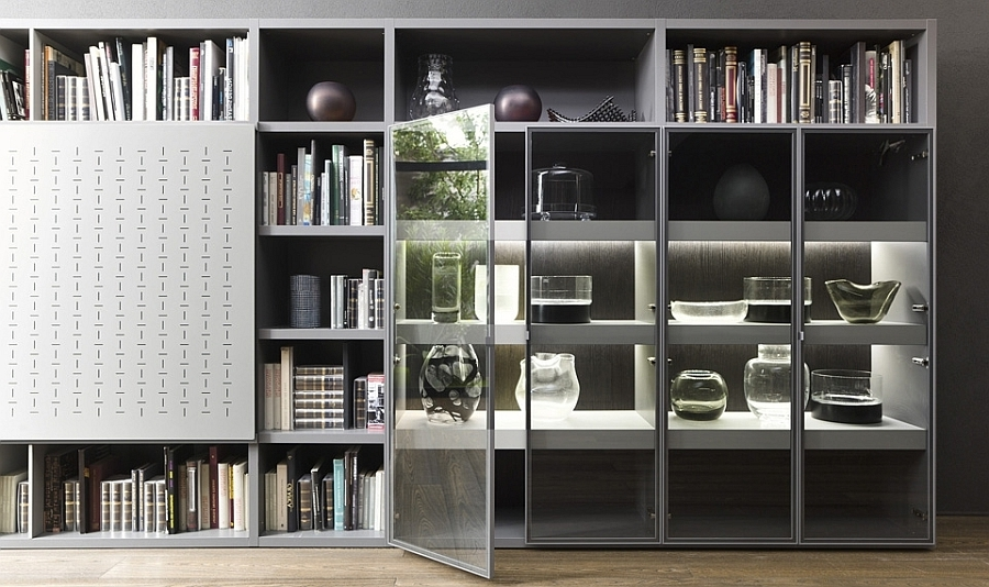 Furniture: Deluxe Wall Unit Design That Integrate Bookshelves And With Regard To Fashionable Book Cupboard Designs (View 8 of 15)