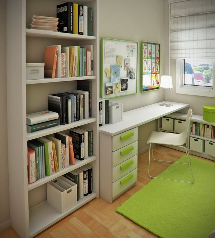 Furniture : Perfect Small Boys Bedroom With Open Bookshelf And In Trendy Study Shelving Ideas (View 13 of 15)