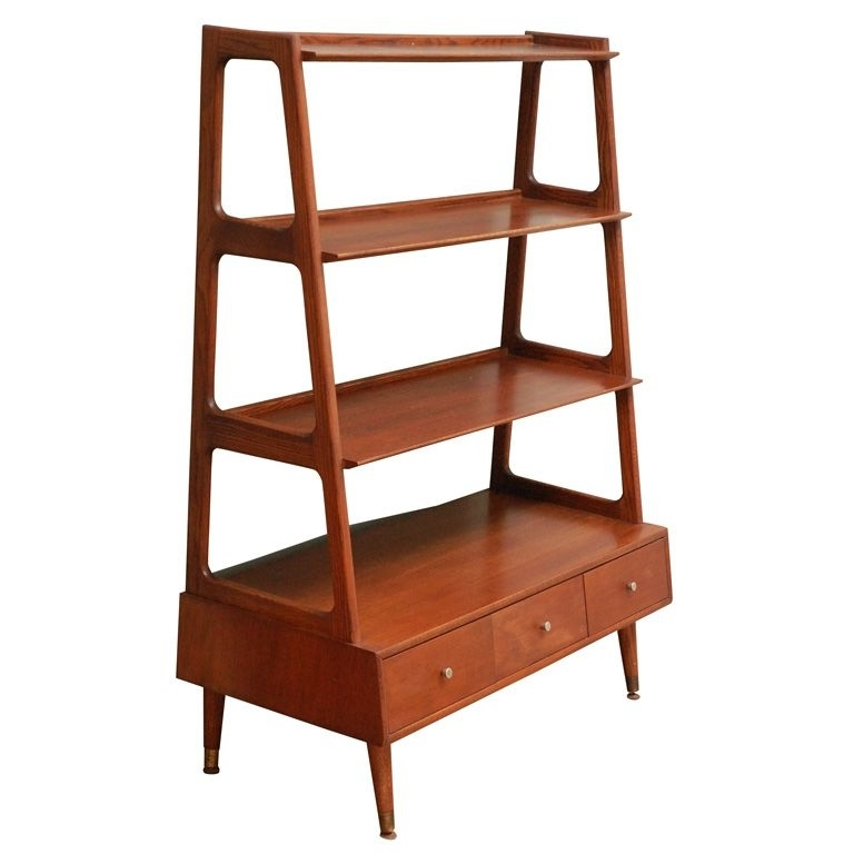 Furniture Storage, Teak And Mid Century Intended For Fashionable Metal Bookcases (View 4 of 15)