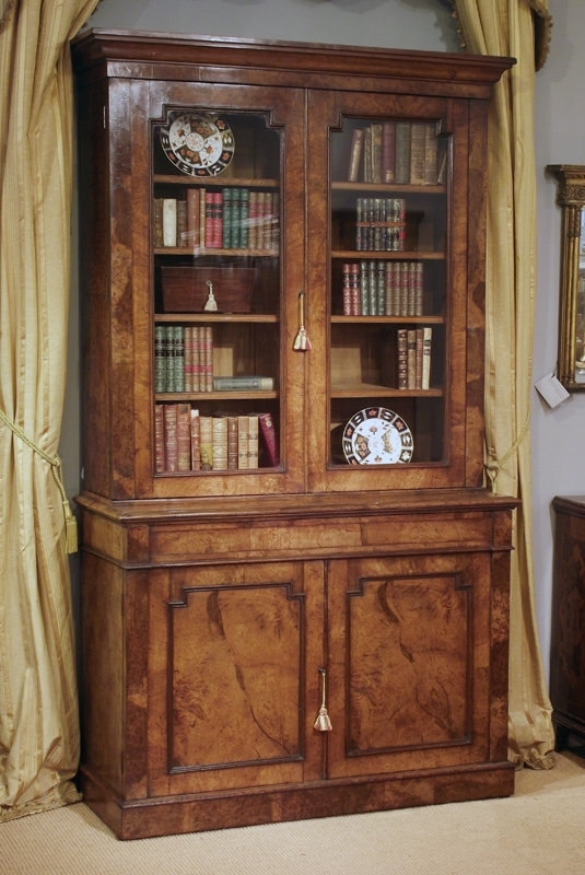 Glazed Bookcases Within Latest Nineteenth Century Pollard Oak Bookcase, Victorian Oak Bookcase (View 5 of 15)