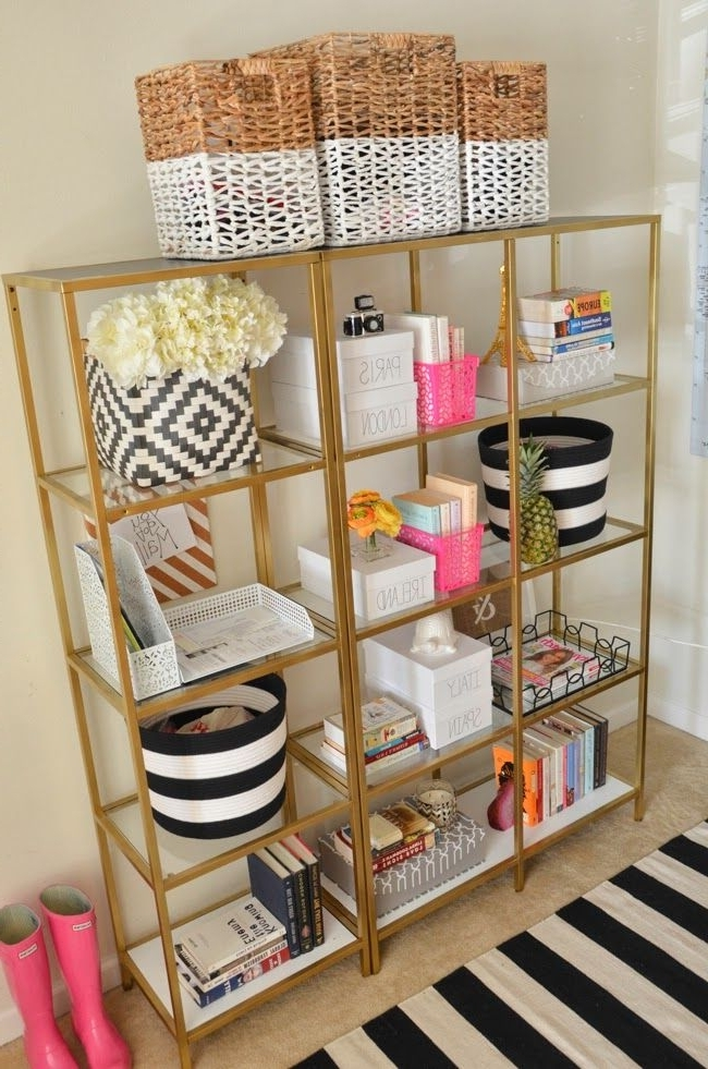 Gold Bookcases Inside Latest Best 25+ Gold Bookshelf Ideas On Pinterest (View 7 of 15)
