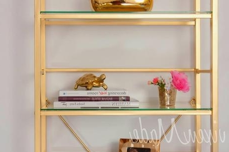Gold Bookcases Within Well Liked Diy Gold Etagere Bookcase – Paperblog (View 9 of 15)