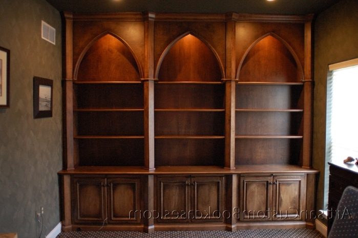 Gothic Style Custom Home Office – Artisan Custom Bookcases Inside Most Up To Date Custom Bookcases (Gallery 7 of 15)