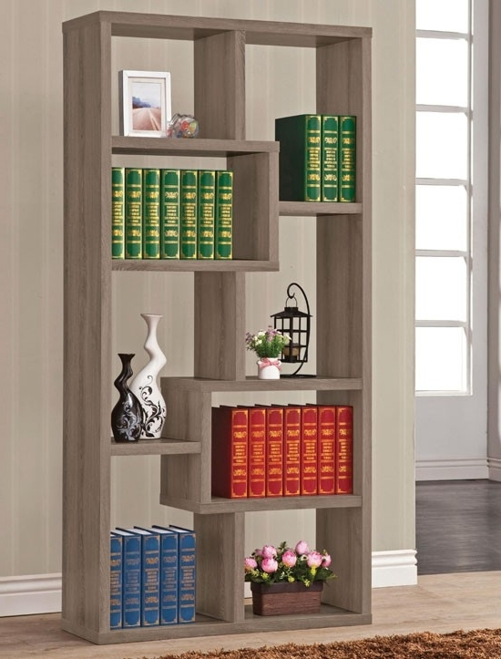Grey Bookcases Within Favorite Zeus Modern Style Bookshelf (View 15 of 15)