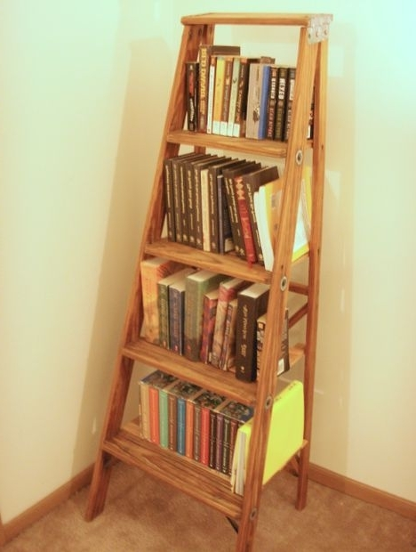 Guide Patterns In Ladder Bookcases (Gallery 5 of 15)