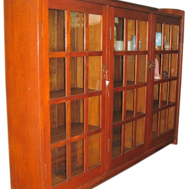Gustav Stickley 3 Door Bookcase F364 – Joenevo With Regard To Most Recent Stickley Bookcases (View 3 of 15)