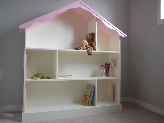 Hand Crafted Dollhouse Bookcaseclark Wood Creations In Trendy Dollhouse Bookcases (View 8 of 15)