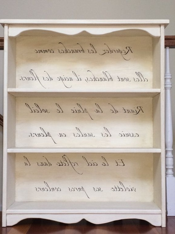 Hand Painted Chalk Paint Bookcase With Most Current Hand Painted Bookcases (View 9 of 15)