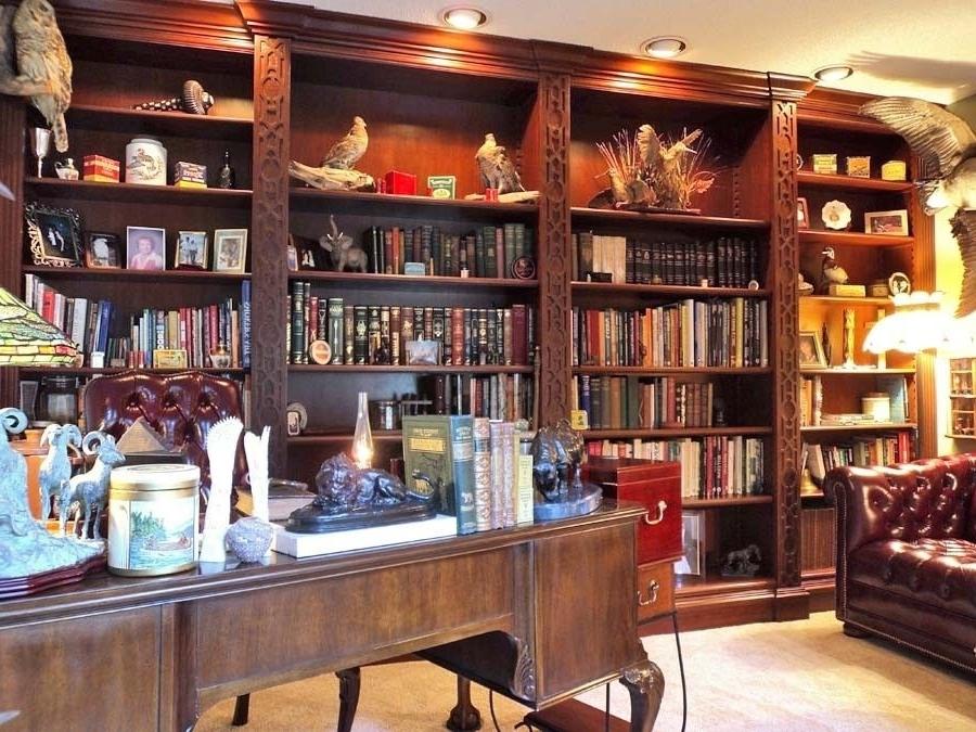 Handmade Mahogany Bookshelvesjames Eddy Woodworks (View 7 of 15)