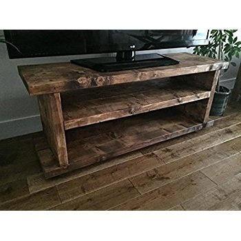 Handmade Tv Unit Intended For Popular Solid Rustic Handmade Pine Tv Unit, Finished In A Chunky Country (Gallery 7 of 15)