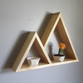 Handmade Wooden Shelves In Most Up To Date Shop Geometric Shelves On Wanelo (View 8 of 15)