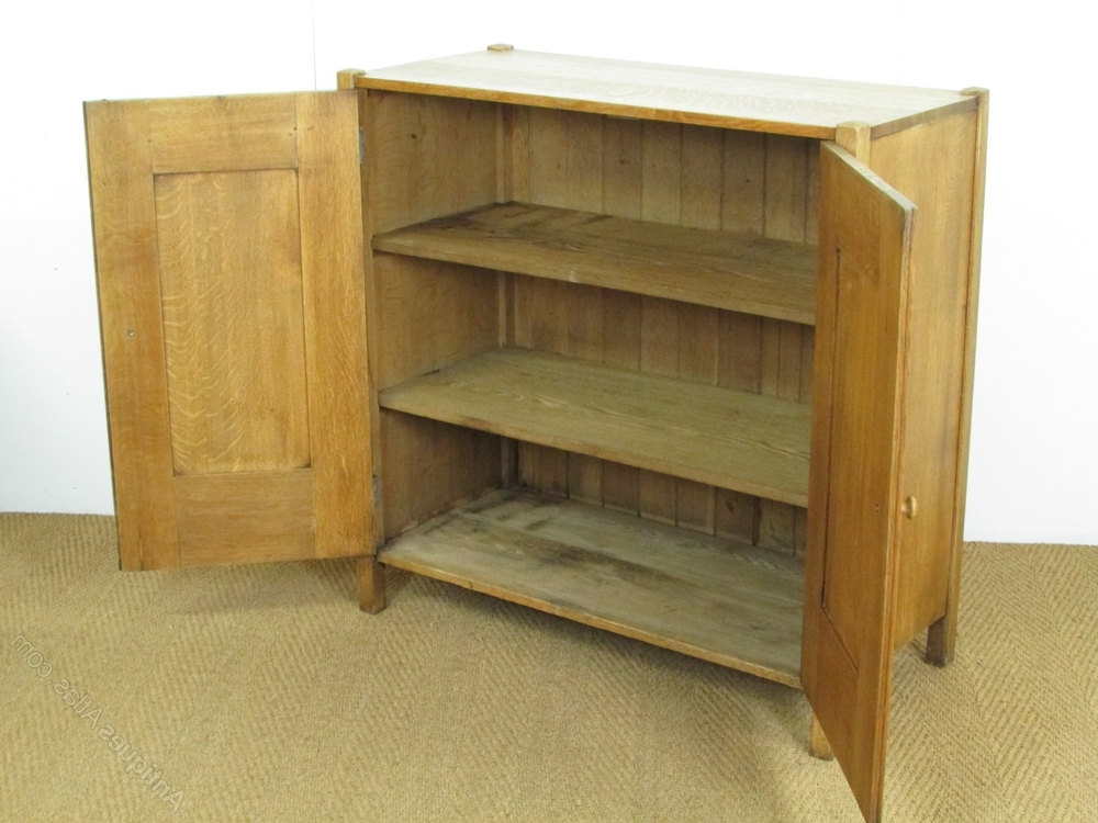 Heal's Arts & Crafts Oak Linen Cupboard – Antiques Atlas With Most Current Oak Linen Cupboard (View 4 of 15)