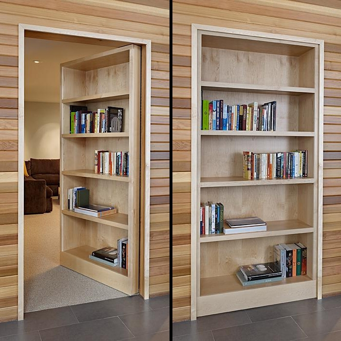 Hidden Door Bookcases For Most Current The Great Ideas For All Homeowners To Create The Functional Yet (View 8 of 15)