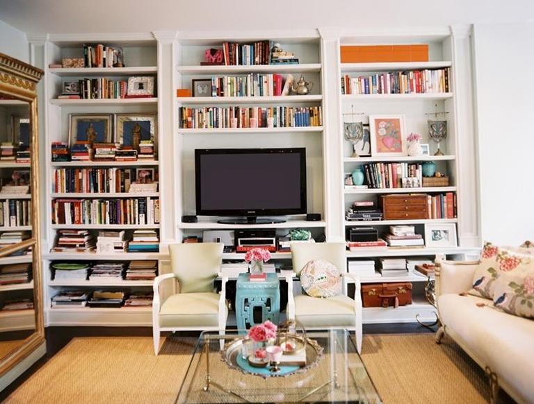 Home Design Ideas With Well Known Built In Bookshelves With Tv (View 11 of 15)