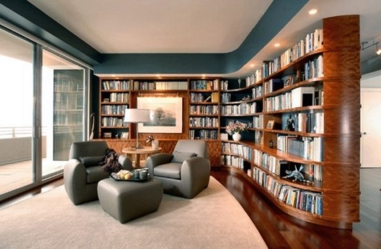 Home Library Shelving Intended For Well Liked 20 Wonderful Home Library Ideas (View 12 of 15)